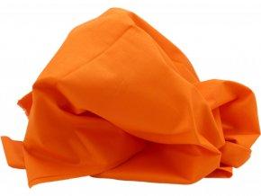 Bavlněné plátno - oranžová - pomerančová - šíře 150cm/1bm