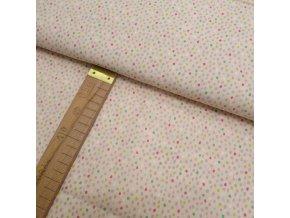 Bavlněné plátno -  Puntíčky na pleťové - šíře 150cm/1bm
