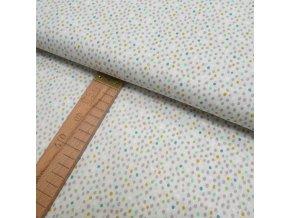 Bavlněné plátno -  Puntíčky na světle šedé - šíře 150cm/1bm