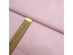 Bavlněné plátno - Proužky růžové - šíře 140cm/1bm