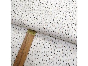 Bavlněné plátno - Čárky na bílé - šíře 150cm/1bm