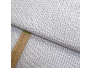 Bavlněné plátno - Chevron světle šedá - šíře 160cm/1bm