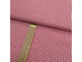Bavlněné plátno - Pepitko - káro červené - šíře 150cm/1bm