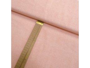 Bavlněné plátno - Lněná půda lososová - šíře 150cm/1bm