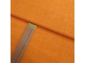 Bavlněné plátno -Lněná půda oranžová - šíře 150cm/1bm