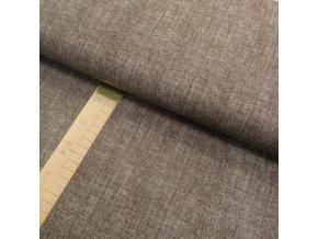 Bavlněné plátno - Lněná půda hnědá - šíře 150cm/1bm