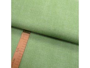 Bavlněné plátno - Lněná půda zelená - šíře 150cm/1bm