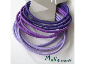 Sada kulatých gumiček na úpravu fialová, 10ks