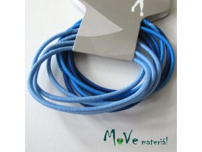 Sada kulatých gumiček na úpravu modrá, 10ks
