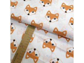 Bavlněné plátno - Lišky na bílé - šíře 160cm/1bm