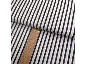 Bavlněné plátno - Pruh černá, bílá - šíře 160cm/1bm
