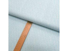 Bavlněné plátno -Trojúhelníky mátovo-šedé na bílé - šíře 150cm/1bm