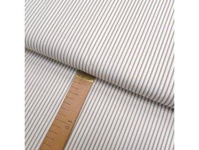 Bavlněné plátno - Pruh béžová, bílá - šíře 150cm/1bm