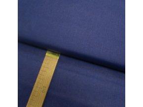 Bavlněné plátno -Tisk temně modré - šíře 140cm/1bm