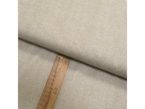 Bavlněné plátno - Lněná půda béžová - šíře 150cm/1bm