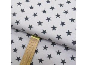 Teplákovina - Hvězdy šedé na světle šedé -šíře 150cm/1bm