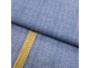 Bavlněné plátno - Lněná půda modrá - šíře 150cm/1bm