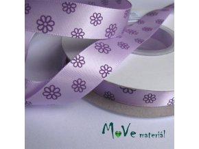 Stuha saténová květinky 16mm 1m, fialová