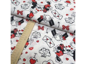 Bavlněné plátno - Mickey Mouse na bílé - šíře 140cm/1bm