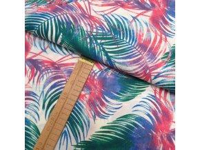 Bavlněné plátno - Peří barevné - šíře 160cm/1bm