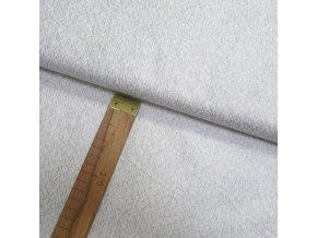 Bavlněné plátno - Pavučinka stříbrotisk na bílé - šíře 140cm/1bm