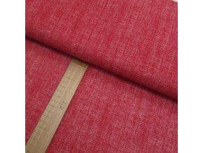 Bavlněné plátno - Lněná půda červená - šíře 150cm/1bm
