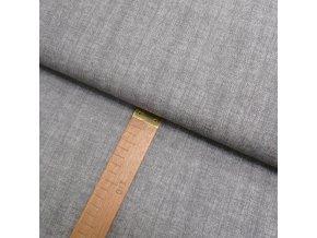 Bavlněné plátno - Lněná půda světle šedá - šíře 150cm/1bm