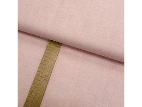 Bavlněné plátno - Lněná půda růžová - šíře 150cm/1bm