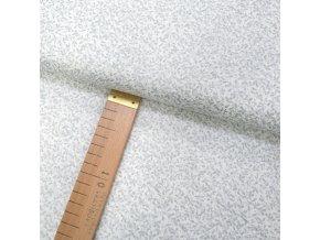 Bavlněné plátno - Větvičky malé stříbrné na bílé - šíře 140cm/1bm