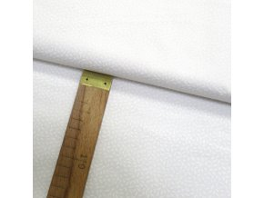 Bavlněné plátno - Rýže bílá na bílé - šíře 150cm/1bm