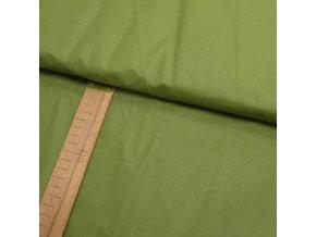 Bavlněné plátno - Jednobarevná olivově zelená - šíře 160cm/1bm