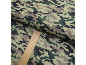 Bavlněné plátno - Maskáč zelený - šíře 160cm/1bm