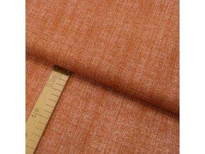 Bavlněné plátno - Lněná půda rezavá - šíře 150cm/1bm