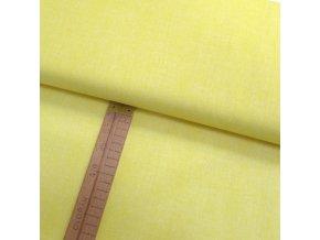 Bavlněné plátno - Lněná půda světle žlutá - šíře 150cm/1bm