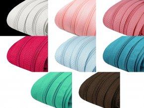 Zip spirálový 3 mm - metráž - různé barvy