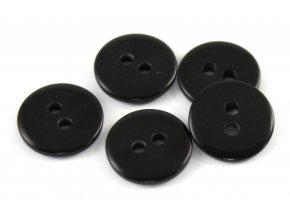 """Knoflík dvoudírkový - hladký - 24"""" - 15,24mm - černý"""