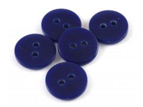 """Knoflík dvoudírkový - hladký - 20"""" - 12,7mm - tmavě modrý"""
