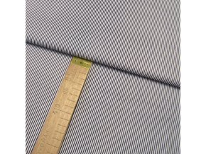 Bavlněné plátno - Pruh tmavě modrý - šíře 140cm/1bm