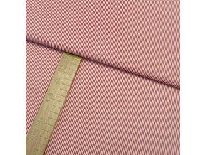Bavlněné plátno - Pruh červený - šíře 140cm/1bm