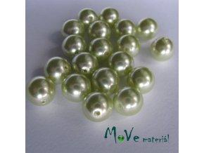 České voskové perle zelenkavé 8mm, 32ks
