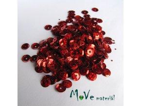 Flitry lomené 6mm, 5g, červené holografické
