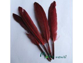 Ozdobné kachní peří délka 120-140mm, 4ks bordó