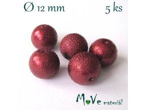 "Voskové perle ""Zigana"" 12mm, 5ks, bordó"