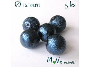 "Voskové perle ""Zigana"" 12mm, 5ks, modrá"