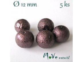 "Voskové perle ""Zigana"" 12mm, 5ks, hnědá"