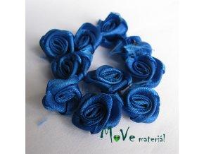Růžička saténová zářivě modrá 15mm, 10kusů