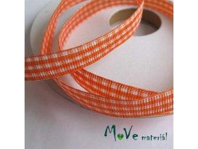 Stuha řezaná kostka 10mm 1m, oranžová