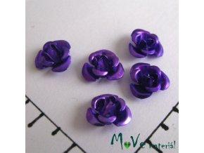Korálek růžička 10mm, 10ks fialovomodrá
