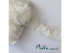 Prýmek na monofilu šíře 55mm ROSE, 0,5m, krémový