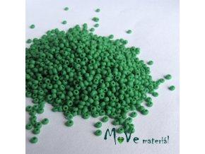 Český rokajl zelený matný cca 2mm 20 g